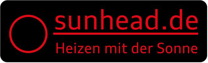 sunhead- heizen mit der Kraft der Sonne- heizen mit Köpfchen!-Logo